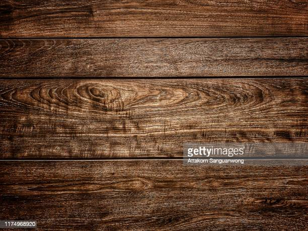 teak wood walls are dark brown. for the background image - wood material stock pictures, royalty-free photos & images