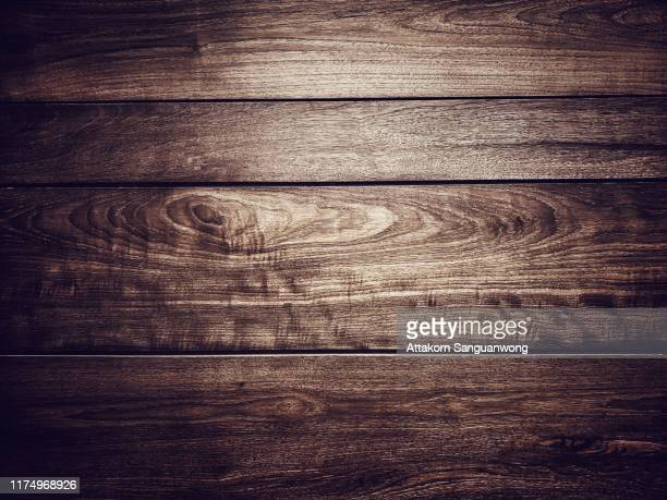 teak wood walls are dark brown. for the background image - チーク ストックフォトと画像