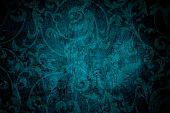 Teal Blue Victorian Background
