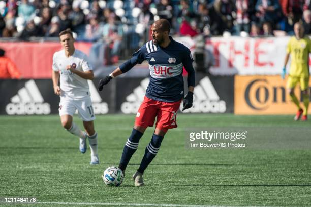 Teal Bunbury of New England Revolution during a game between Chicago Fire and New England Revolution at Gillette Stadium on March 7 2020 in...