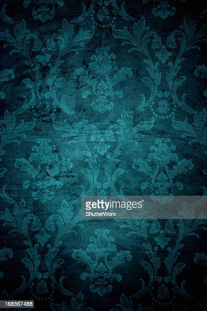 teal grunge victorian background - dark panthera stock pictures, royalty-free photos & images