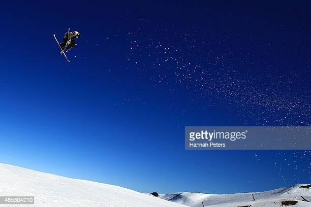 Teal Harle of Canada competes in the FIS Freestyle Ski World Cup Slopestyle Qualification during the Winter Games NZ at Cardrona Alpine Resort on...