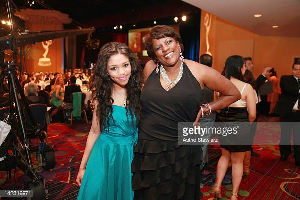 Teala Dunn and Pat Battle attend the 55th Annual New York Emmy Awards gala at the Marriott Marquis Times Square on April 1 2012 in New York City