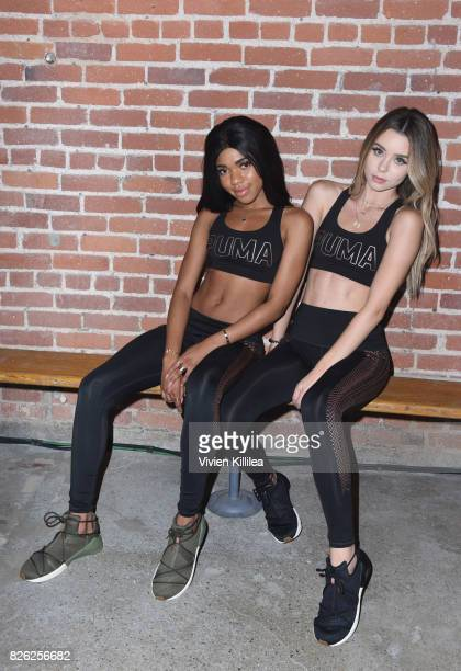 Teala Dunn and Sierra Furtado attend PUMA Hosts CAMP PUMA To Launch Their Newest Women's Collection Velvet Rope at Goya Studios on August 3 2017 in...