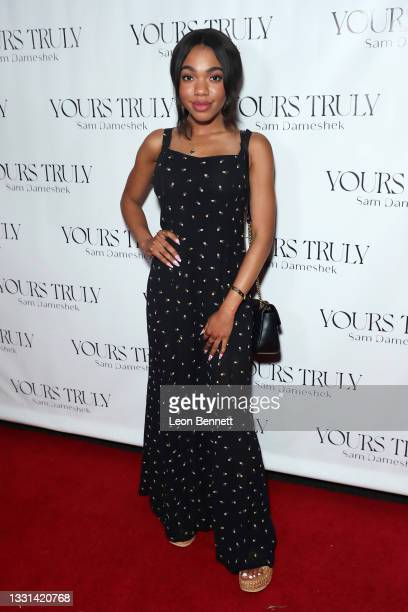 """Teala Dunn attends Celebrity Photographer Sam Dameshek's Black Tie Book Release Event For """"Yours Truly"""" at Fellow on July 29, 2021 in Los Angeles,..."""