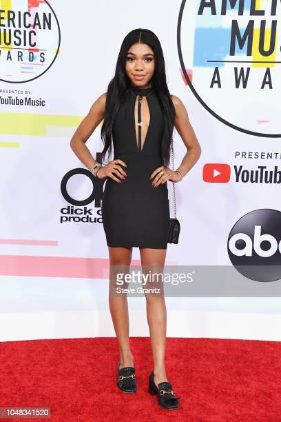 Teala Dunn attends the 2018 American Music Awards at Microsoft Theater on October 9 2018 in Los Angeles California