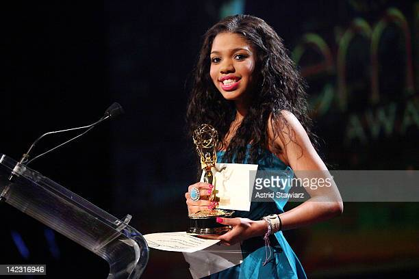 Teala Dunn attends the 55th Annual New York Emmy Awards gala at the Marriott Marquis Times Square on April 1 2012 in New York City