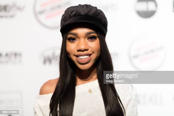 Teala Dunn attends the American Influencer Award at The Novo by Microsoft on November 18 2017 in Los Angeles California