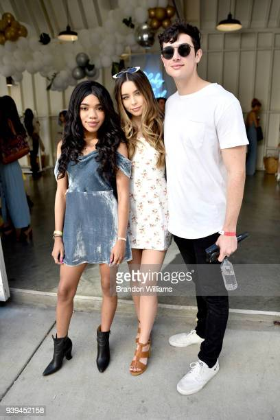 Teala Dunn Sierra Furtado and Alex Terranova attend the White Fox Festival KickOff event at Lombardi House on March 28 2018 in Los Angeles California