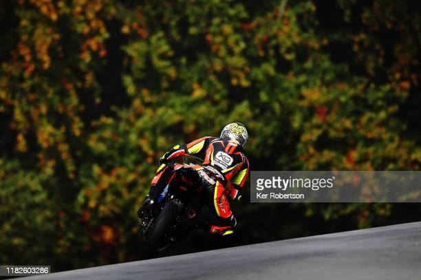 Team 109 Kawasaki rider Kade Verwey in the Dickies Junior Supersport Championship at Brands Hatch on October 20, 2019 in Longfield, England.