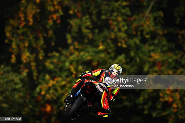 Team 109 Kawasaki rider Kade Verwey in the Dickies Junior Supersport Championship at Brands Hatch on October 20 2019 in Longfield England