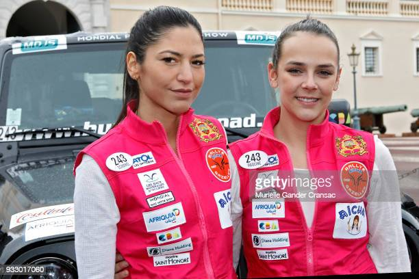 Team 243 Schanel Bakkouche and Pauline Ducruet attend the 28th 'Rallye Aicha Des Gazelles Du Maroc'on March 17 2018 in Monaco Monaco