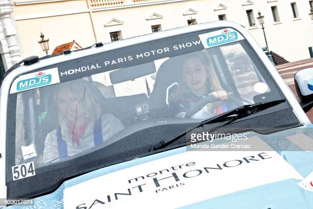 Team 504 Kiera Chaplin and Jazmin Grace Grimaldi attend the 28th 'Rallye Aicha Des Gazelles Du Maroc'on March 17 2018 in Monaco Monaco