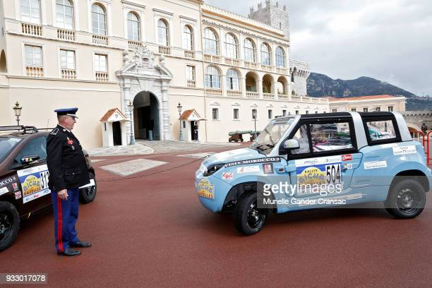 Team 504 Kiera Chaplin and Jazmin Grace Grimaldi attend the 28th 'Rallye Aicha Des Gazelles Du Maroc'on March 17 on March 17 2018 in Monaco Monaco