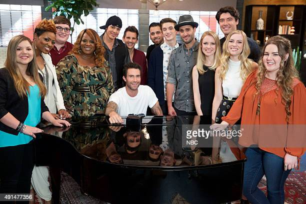 THE VOICE 'Team Adam Battle Reality' Pictured Amanda Ayala Cassandra Robertson Jordan Smith Regina Love Manny Cabo Keith Semple Adam Levine Dustin...