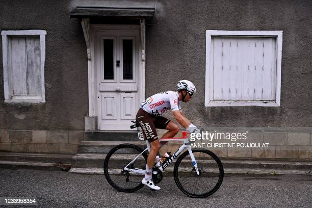 Team AG2R Citroen's Benoit Cosnefroy of France rides during the 16th stage of the 108th edition of the Tour de France cycling race, 169 km between...