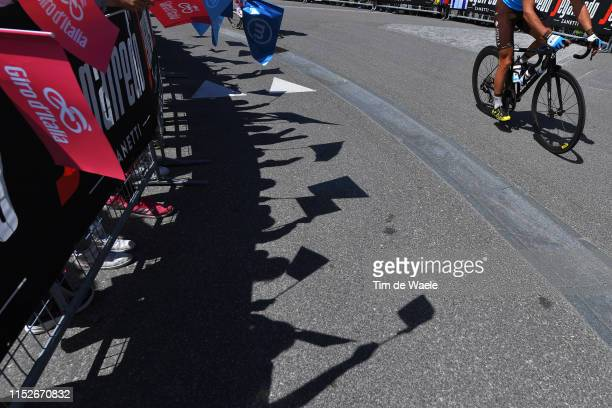 Team AG2R La Mondiale / Fans / Public / Shadow / during the 102nd Giro d'Italia 2019 Stage 18 a 222km stage from Valdaora to Santa Maria di Sala Tour...