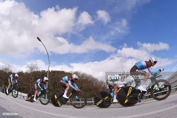Team AG2R La Mondiale of France / Romain Bardet of France / during the 53rd TirrenoAdriatico 2018 / Stage 1 Team Time Trial of 215km on March 7 2018...