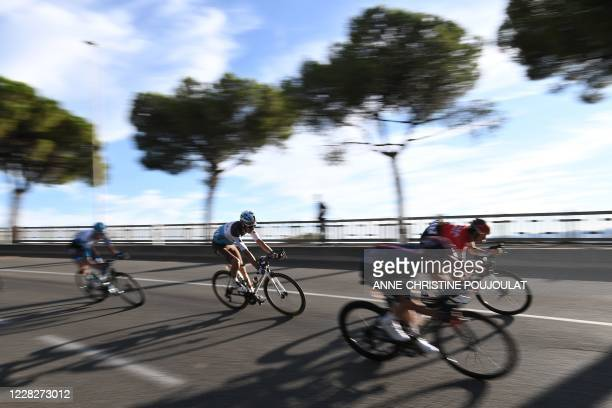 Team AG2R La Mondiale rider France's Mickael Cherel rides during the 2nd stage of the 107th edition of the Tour de France cycling race, 187 km...