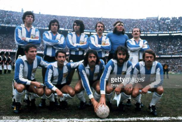 Team Argentina during a presentation of team qualifying for the World Cup 1978 in Argentina on 28th December 1977