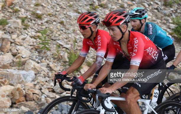 Team Arkea - Samsic rider Colombia's Nairo Quintana leads a group during the 17th stage of the 107th edition of the Tour de France cycling race, 170...
