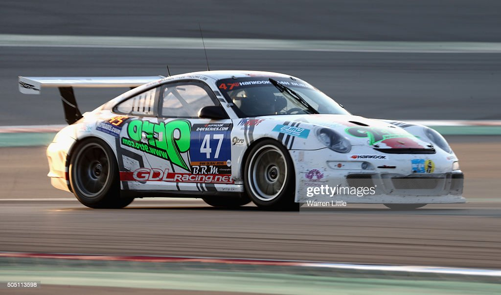 Team Asia , Porshce 997 GT3 Cup S races during the Hankook 24 Hours Dubai Race in the International Endurance Series at Dubai Autodrome on January 15, 2015 in Dubai, United Arab Emirates.