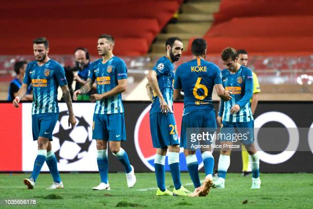 Angel Correa of Atletico during the Champions League match between Monaco and Atletico Madrid at Stade Louis II on September 18 2018 in Monaco Monaco