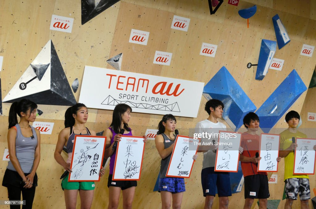 Sport Climbing Team au Press Conference