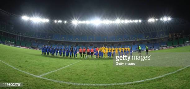Team Australia came to court during the FIFA World Cup Qatar 2022 and AFC Asian Cup China 2023 Preliminary Joint Qualification Round 2 match between...