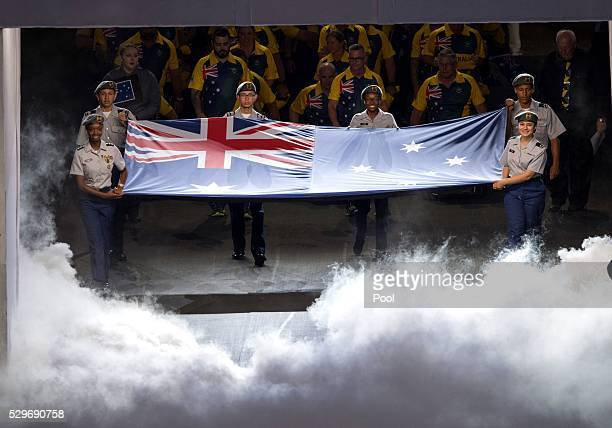 Team Australia during the Opening Ceremony of the Invictus Games Orlando 2016 at ESPN Wide World of Sports on May 8 2016 in Orlando Florida Prince...