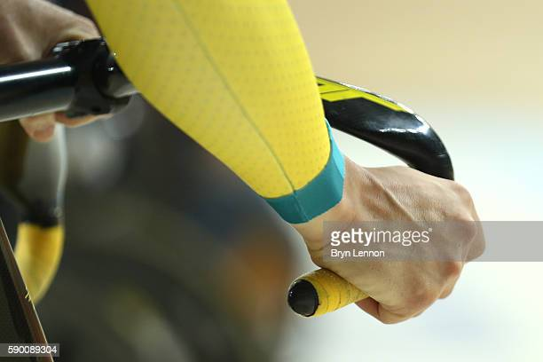 Team Australia prepares on Day 11 of the Rio 2016 Olympic Games at the Rio Olympic Velodrome on August 16 2016 in Rio de Janeiro Brazil