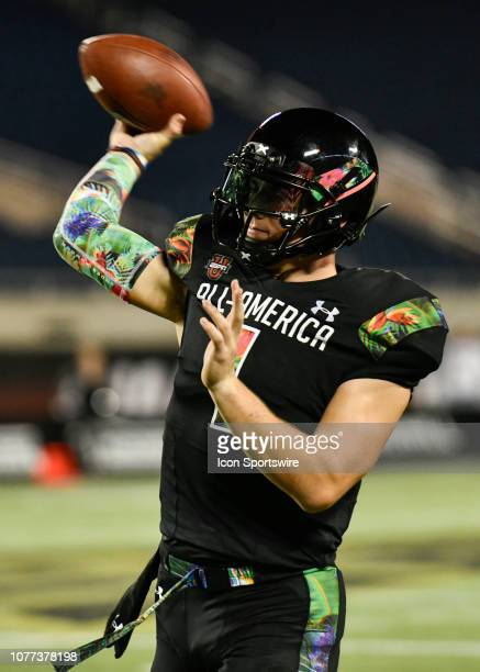 Team Ballaholics quarterback Bo Nix during the Under Armour AllAmerica Game between Team Flash and Team Ballaholics on January 03 at Camping World...