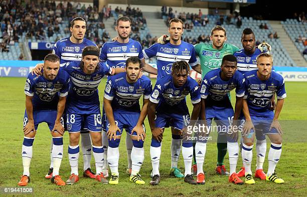 Team Bastia during the French Ligue 1 between Bastia and Dijon at Stade Armand Cesari on October 29 2016 in Bastia France