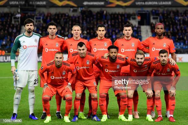 team Besiktas pictured during the UEFA Europa League Group Stage Group 1 match between KRC Genk and Besiktas JK at the KRC Genk Arena on November 08...