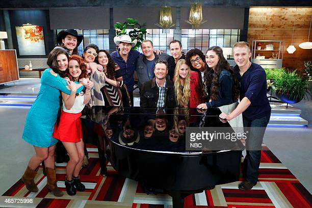 THE VOICE Team Blake Battle Reality Episode 805 Pictured Brenna Yaeger Brooke Adee Cody Wickline Sarah Potenza Hannah Kirby Matt Snook Brian Johnson...