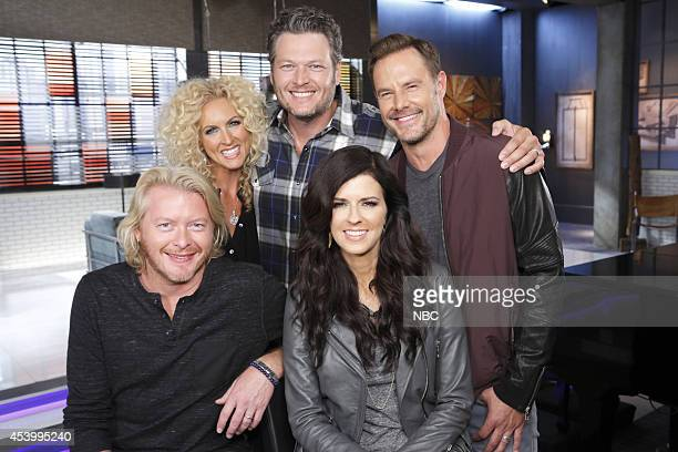 THE VOICE Team Blake Battle Reality Pictured Blake Shelton with Phillip Sweet Kimberly Schlapman Karen Fairchild and Jimi Westbrook of Little Big Town