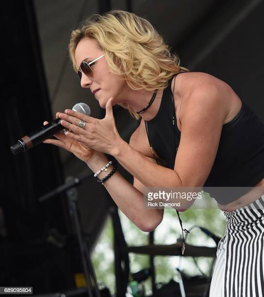 Team Blake on The Voice Adley Stump performs at Tree Town Music Festival - Day 3 on May 27, 2017 in Heritage Park, Forest City, Iowa.