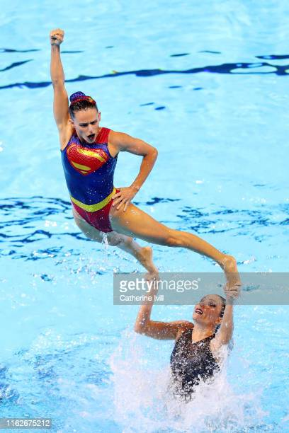 Team Brazil competes in the Free Combination preliminary round day seven of the Gwangju 2019 FINA World Championships at Yeomju Gymnasium on July 18...