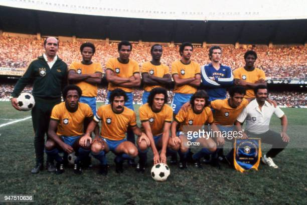 Team Brazil during a presentation of team qualifying for the World Cup 1978 in Argentina on 28th December 1977