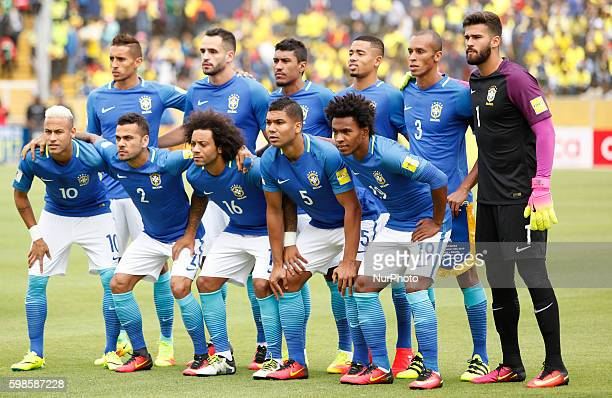 Team Brazil during World Cup Qualifying match Russia 2018 played between Ecuador and Brazil that is played at the Olimpic Stadium Atahualpa in Quito...