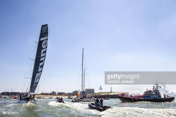 Team Brunel competes during the Volvo Ocean Race in Scheveningen The Hague on June 30 2018 / Netherlands OUT