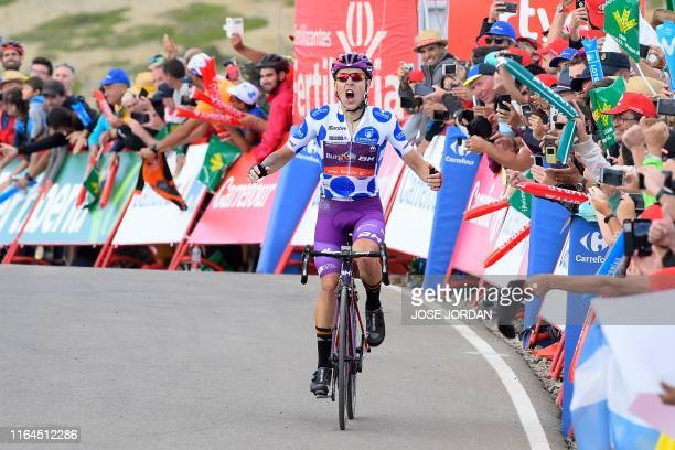 Team Burgos - BH rider Spain's Angel Madrazo wins the fifth stage of the 2019 La Vuelta cycling tour of Spain, a 170,7 km race from L'Eliana and Alto...