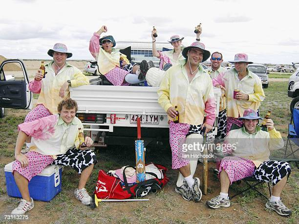 A team called the Pellet Scones is seen during the Goldfield Ashes January 26 2007 in Charters Towers Australia Every Australia Day weekend the small...