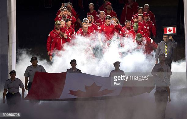 Team Canada during the Opening Ceremony of the Invictus Games Orlando 2016 at ESPN Wide World of Sports on May 8 2016 in Orlando Florida Prince Harry...