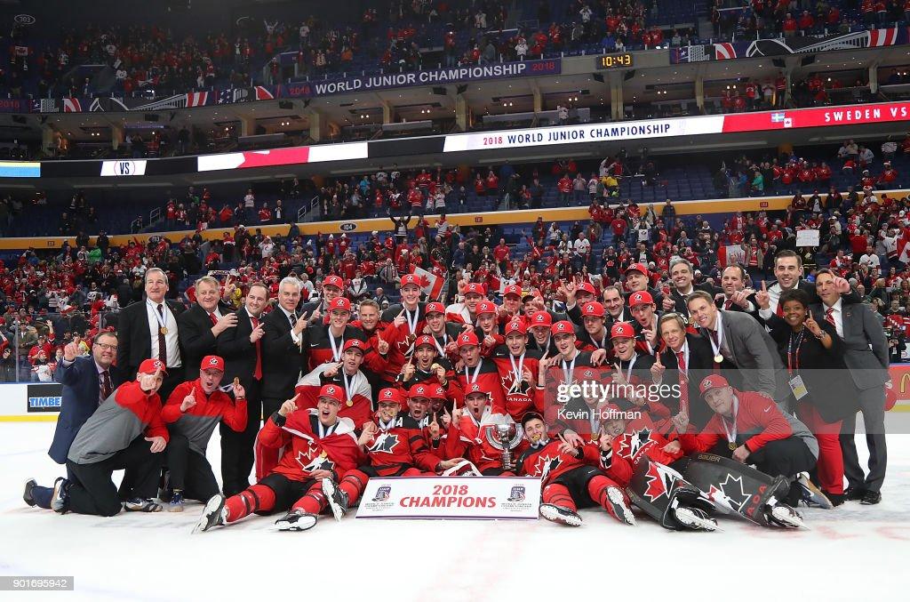 Canada v Sweden: Gold Medal Game - 2018 IIHF World Junior Championship : News Photo