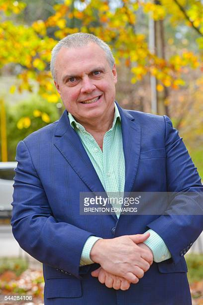 Team candidate Stirling Griff of the Nick Xenophon Team political party poses for photographs in the Adelaide Hills town of Stirling on July 3 2016...