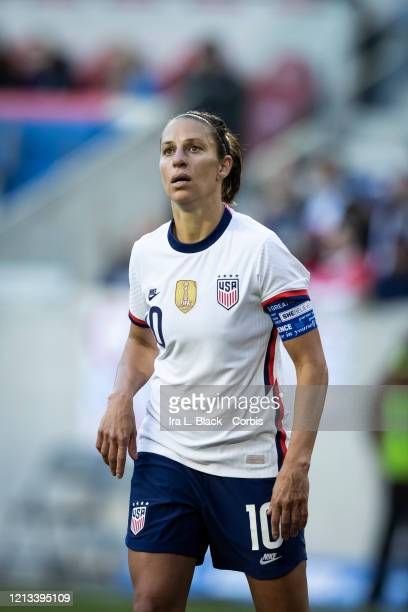 Team Captain Carli Lloyd of the United States with the captain's armband during the 2nd half of the 2020 SheBelieves Cup match between United States...