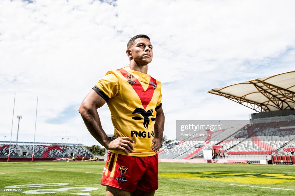 Team Captain David Mead poses for a photo after a PNG Rugby League World Cup captain's run at the Oil Search National Football Stadium on October 27, 2017 in Port Moresby, Papua New Guinea.