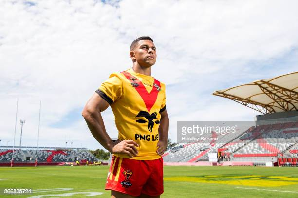 Team Captain David Mead poses for a photo after a PNG Rugby League World Cup captain's run at the Oil Search National Football Stadium on October 27...