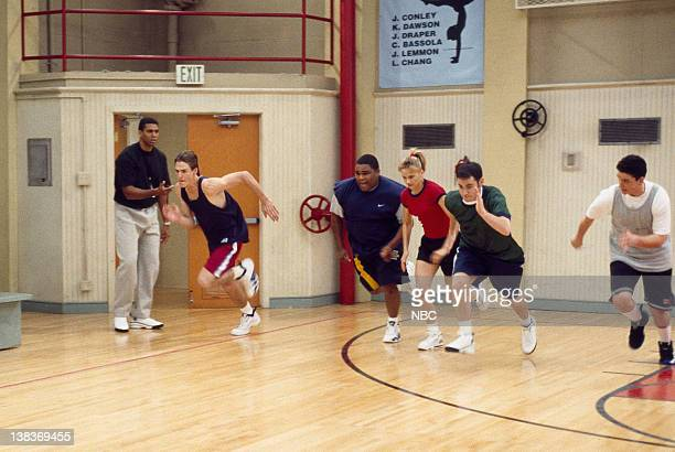 "Team Captain"" Episode 1 -- Aired 9/6/97 --Pictured: Reggie Theus as Coach Bill Fuller, Adam Frost as Michael Manning, Anthony Anderson as Teddy..."